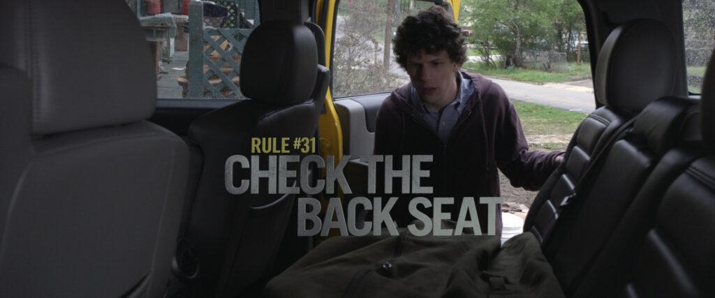 Правило № 31 – Всегда смотри, что на заднем сиденье