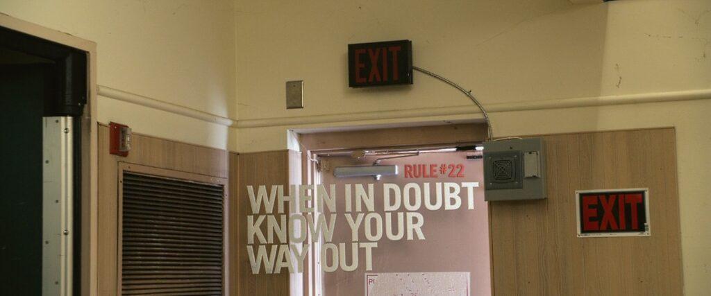 Правило № 22 - Если есть какие-то сомнения, то необходимо искать пути отхода